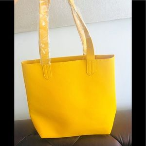 NWT Saks Fifth Ave Yellow Tote